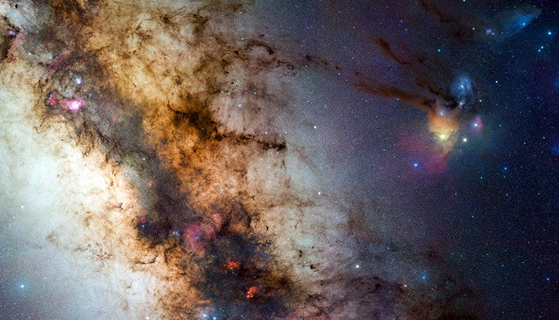 Galaksi diskimizin tozlu yapısı, daha uzak mesafeleri gözlemlememizin önündeki en büyük engeldir.