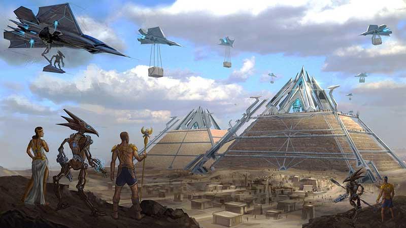sci-fi-egypt-fantasy-hd-wallpaper-2560x1440-8357  Piramitleri Uzaylilar Yaptı Safsatası sci fi egypt fantasy hd wallpaper  8357