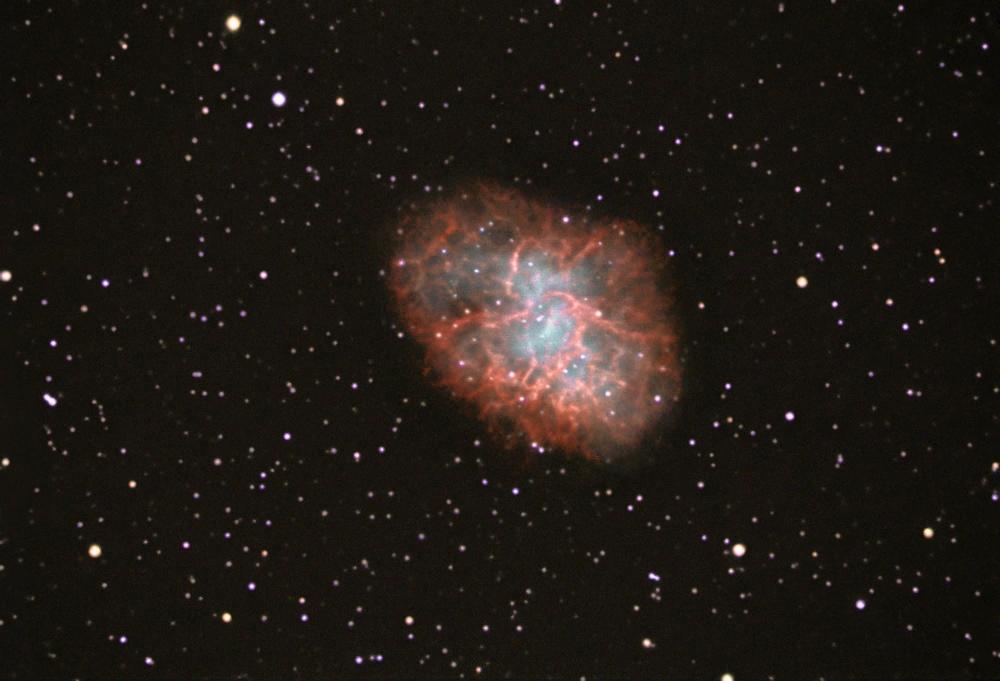Fotoğraf: Juan Pablo. Toplam pozlama 0.9 saat. Teleskop: Celestron C9.25 Starbright XLT - Kundak: Celestron CG-5 Advanced GT - Kamera: SBIG ST-402me
