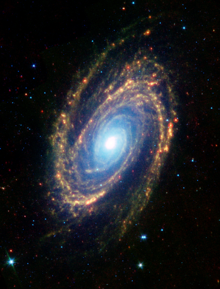 Spitzer Uzay Teleskobu tarafından alınmış kızılöte görüntü