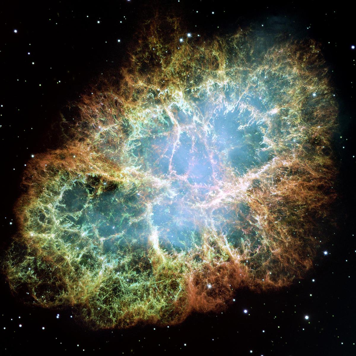 SN1054'den geriye kalan Yengeç Bulutsusu(M1)