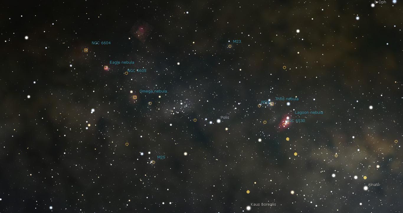 Stellarium'dan alınmış görüntü