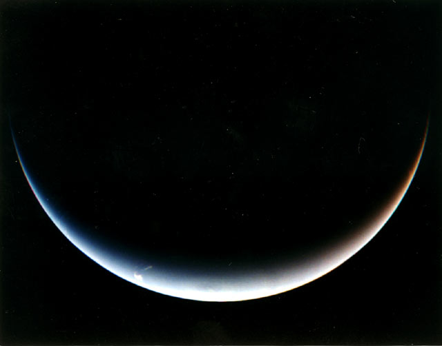 Neptün'ün gece tarafından güney kutbunun görünüşü