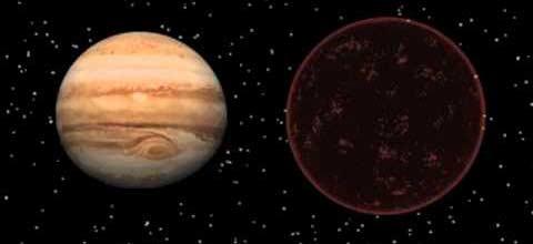 TrES-2b ile Jüpiter'i yan yana koysaydık, büyük ihtimalle göreceğimiz manzara böyle birşey olurdu.