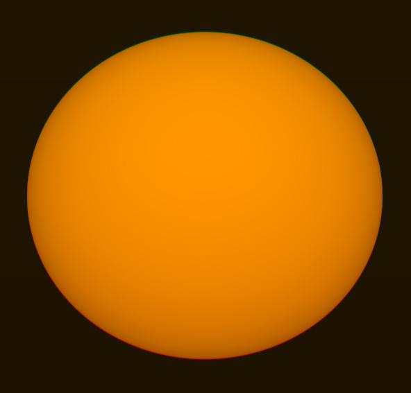 Bu simulasyonda Güneş'in üst ve altındaki yeşile ve kırmızıya kaymayı görebilirsiniz. (Kaynak: San Diego Üniversitesi Astronomi Departmanı)