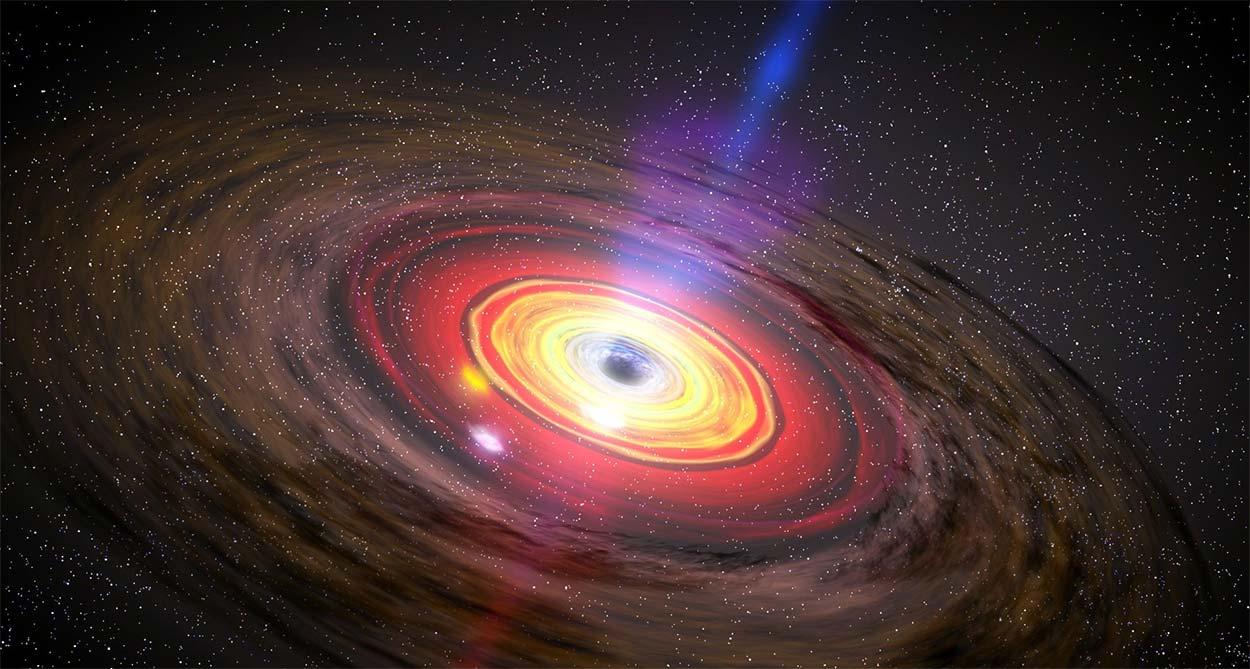 Andromeda'da Kara Delikler Gaz Hırsızlığı Yapıyor
